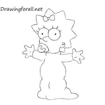 How to Draw Maggie Simpson