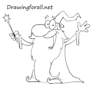 How to Draw a Cartoon Wizard