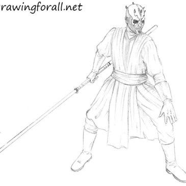 How to draw Darth Maul