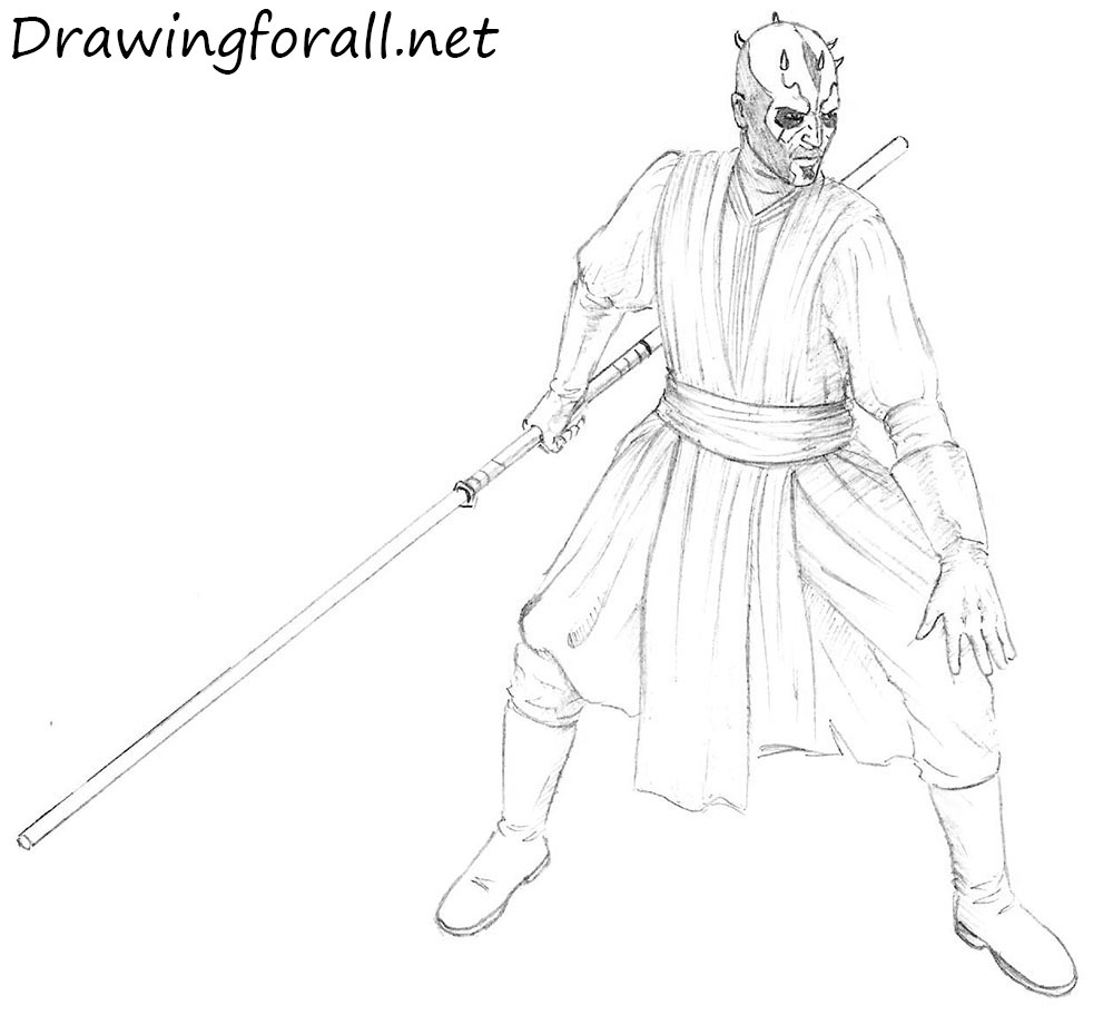 how to draw darth maul drawingforallnet