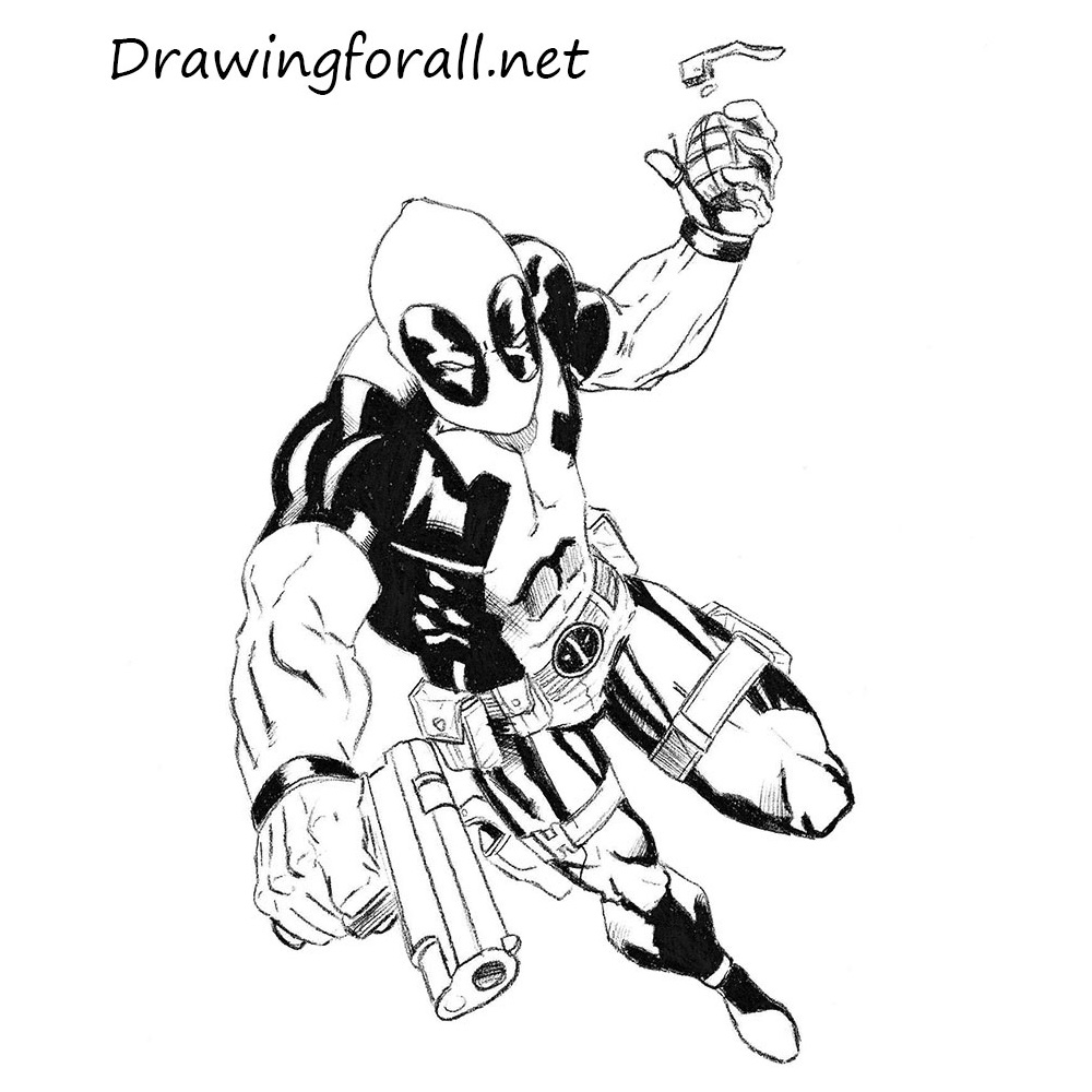 How To Draw Deadpool Drawingforall Net