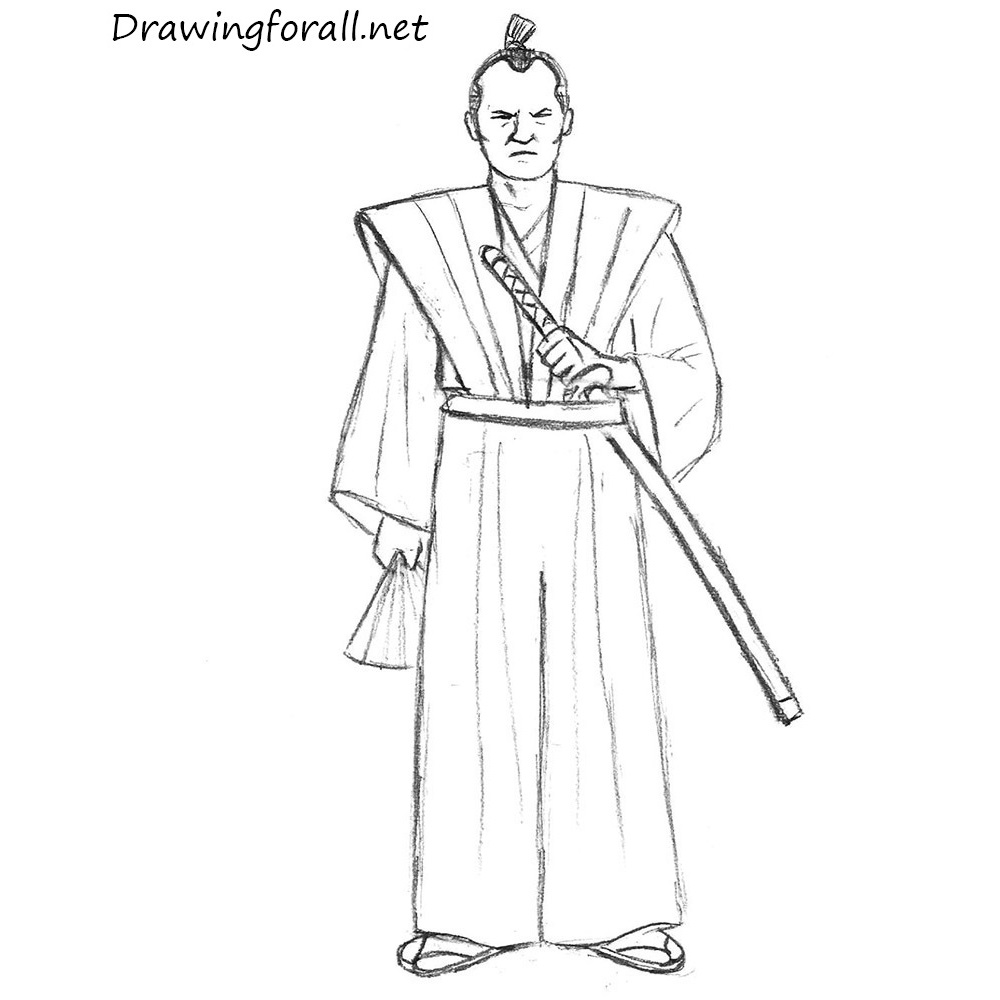 How To Draw A Samurai For Beginners Drawingforall Net