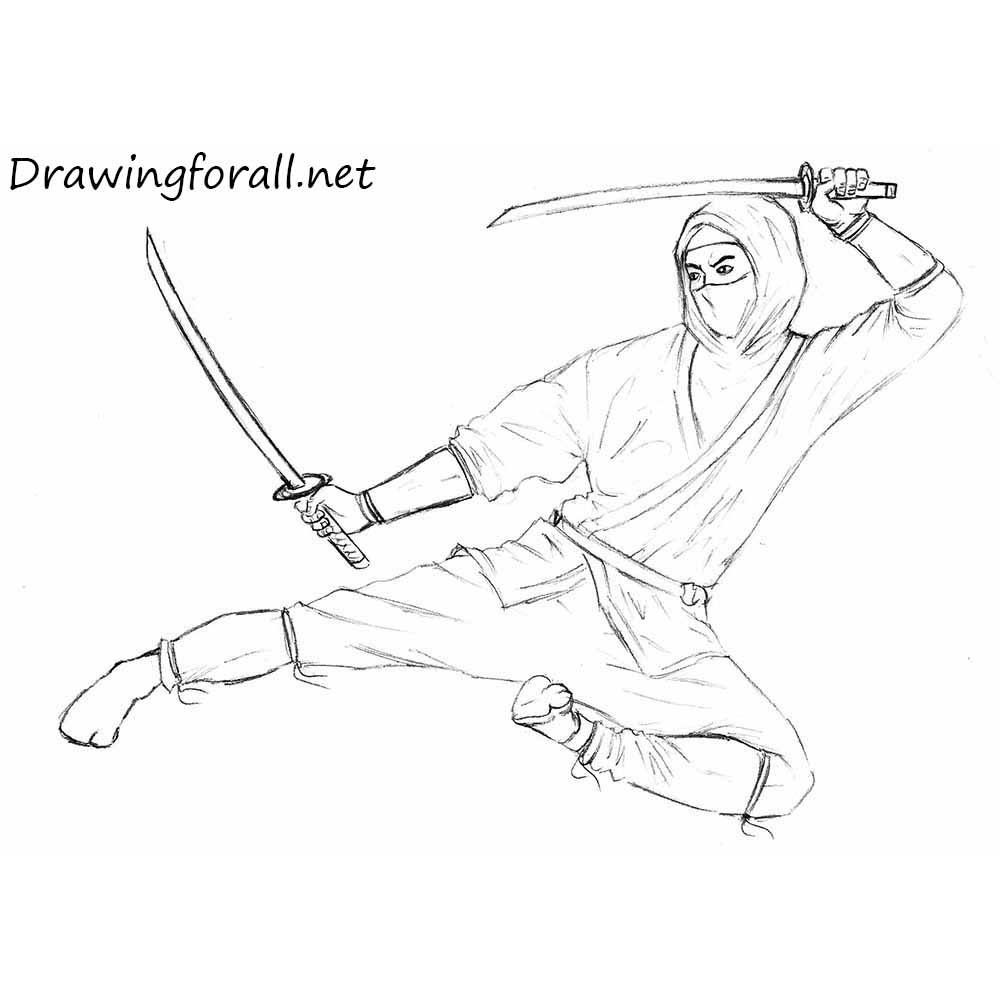 How to draw a ninja