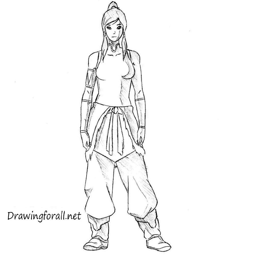 How to draw Avatar Korra