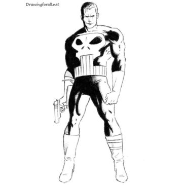 How to draw Punisher