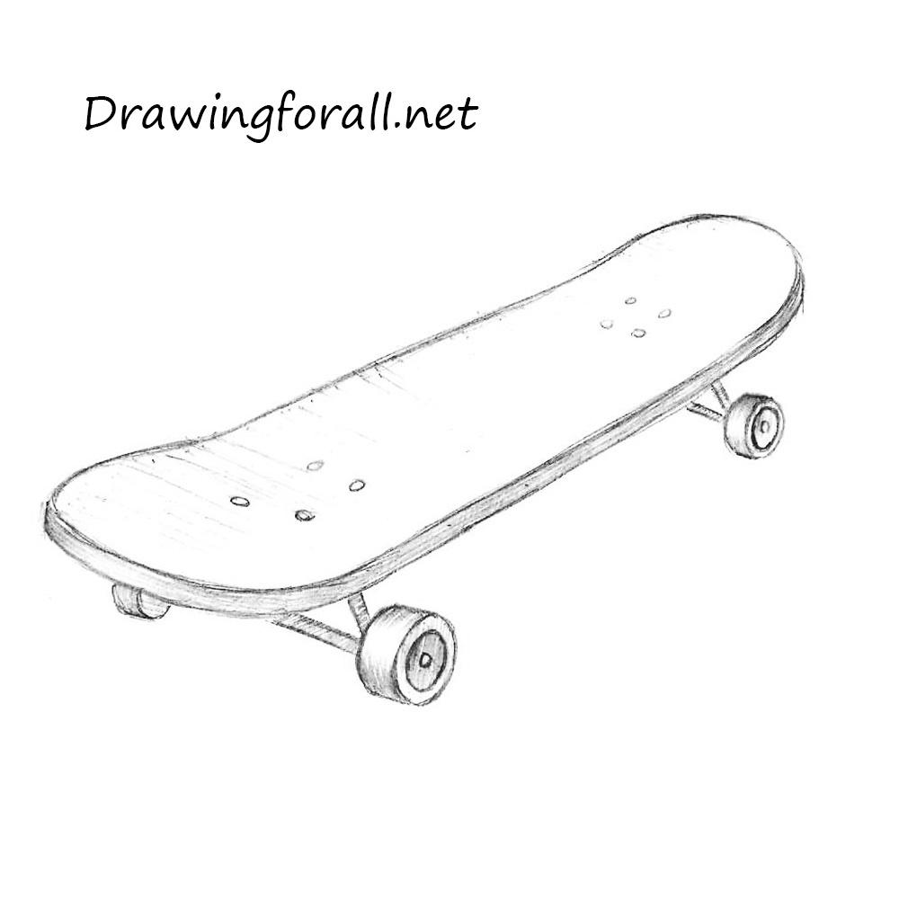 Картинка скейтборда нарисованная