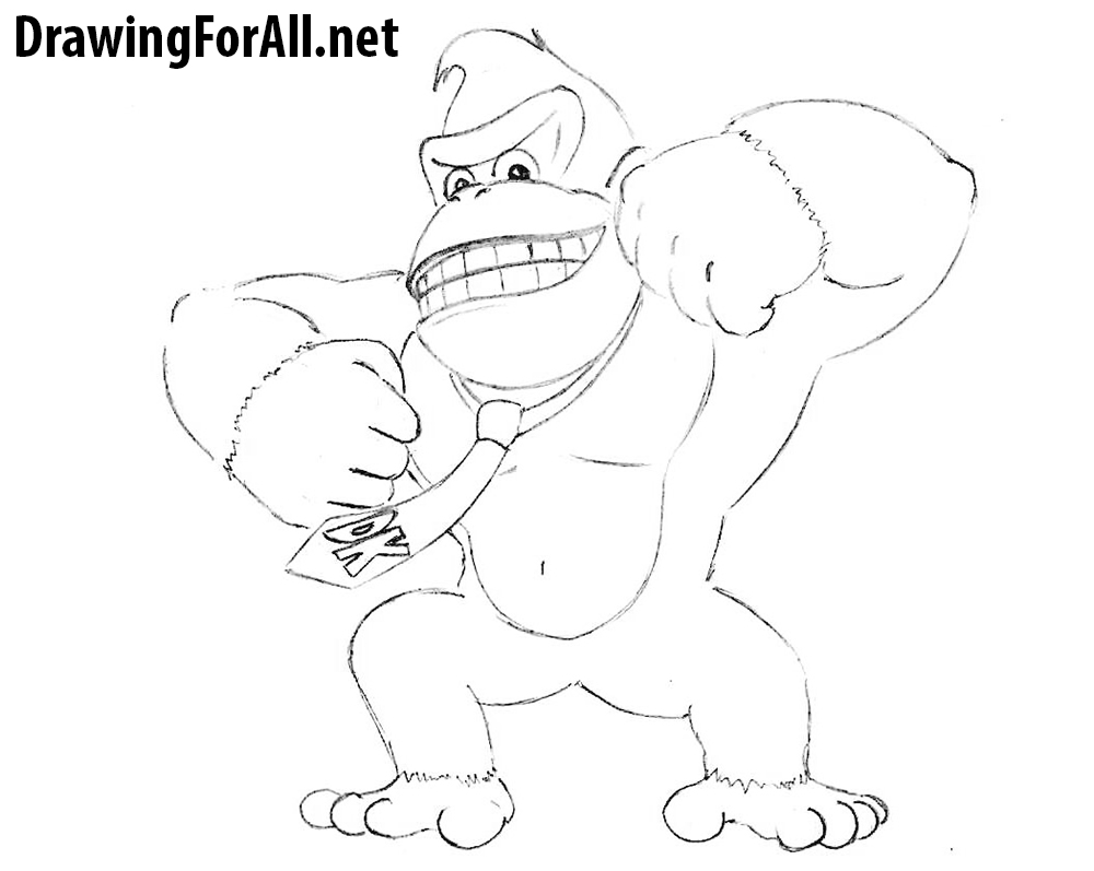 How to Draw Donkey Kong