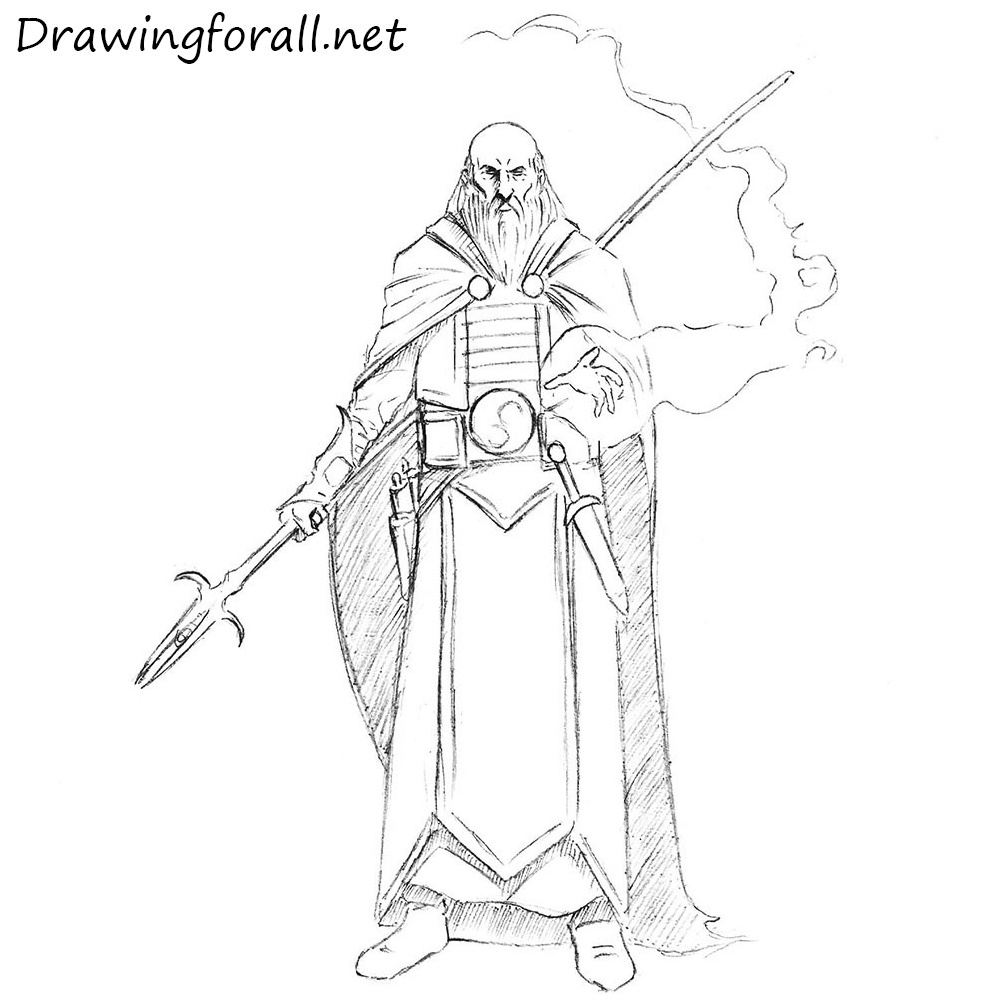 How to Draw a Wizard | Drawingforall.net