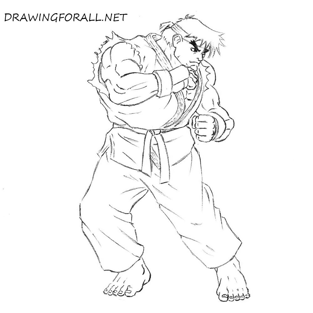 How To Draw Ryu From Street Fighter Drawingforall Net
