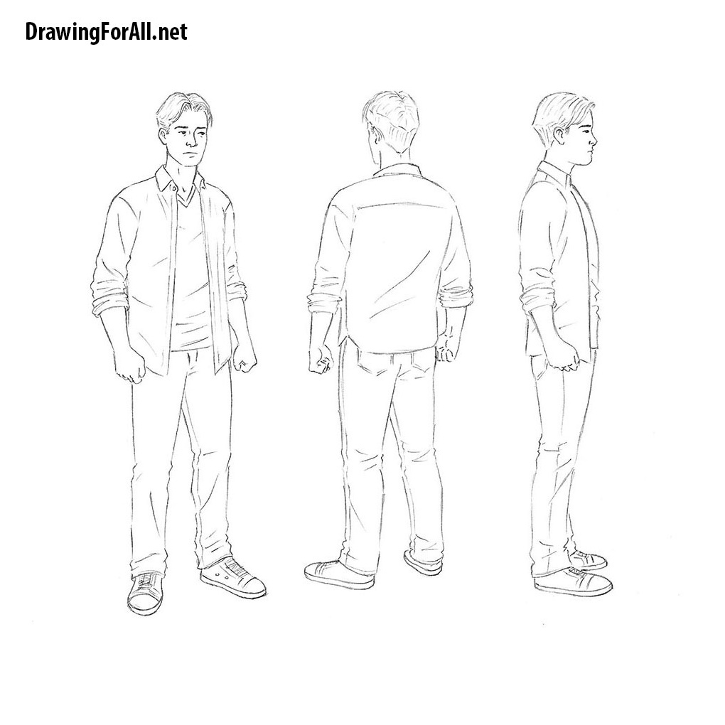 How to draw a man for beginner drawingforall net