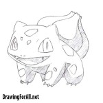 How to draw Bulbasaur from Pokemon