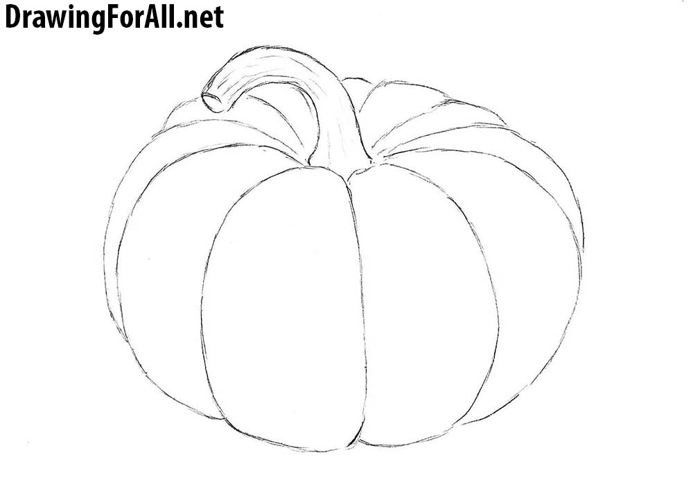 It is a graphic of Simplicity Easy Pumpkin Drawing