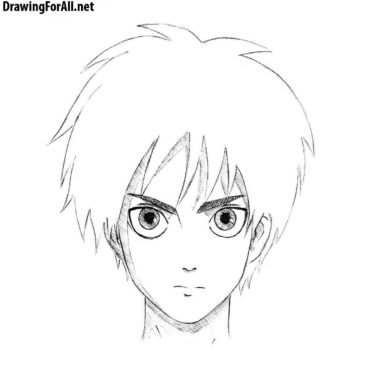 How to draw Eren Yeager from Attack on Titan