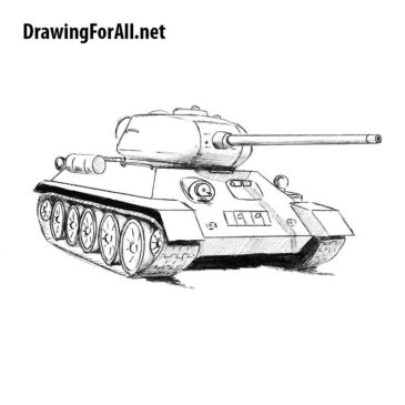 How to Draw Tank T-34