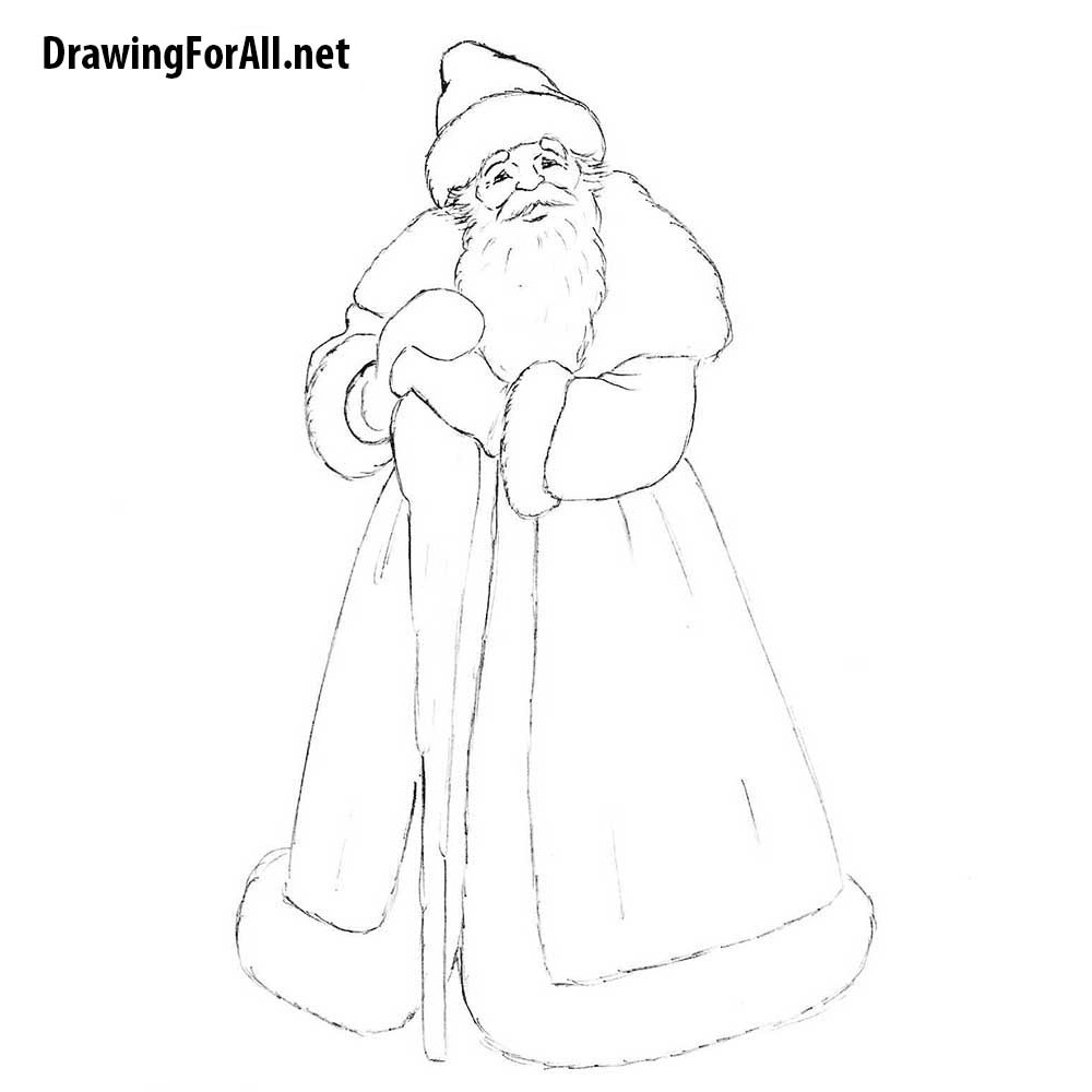 How To Draw Ded Moroz Drawingforall Net