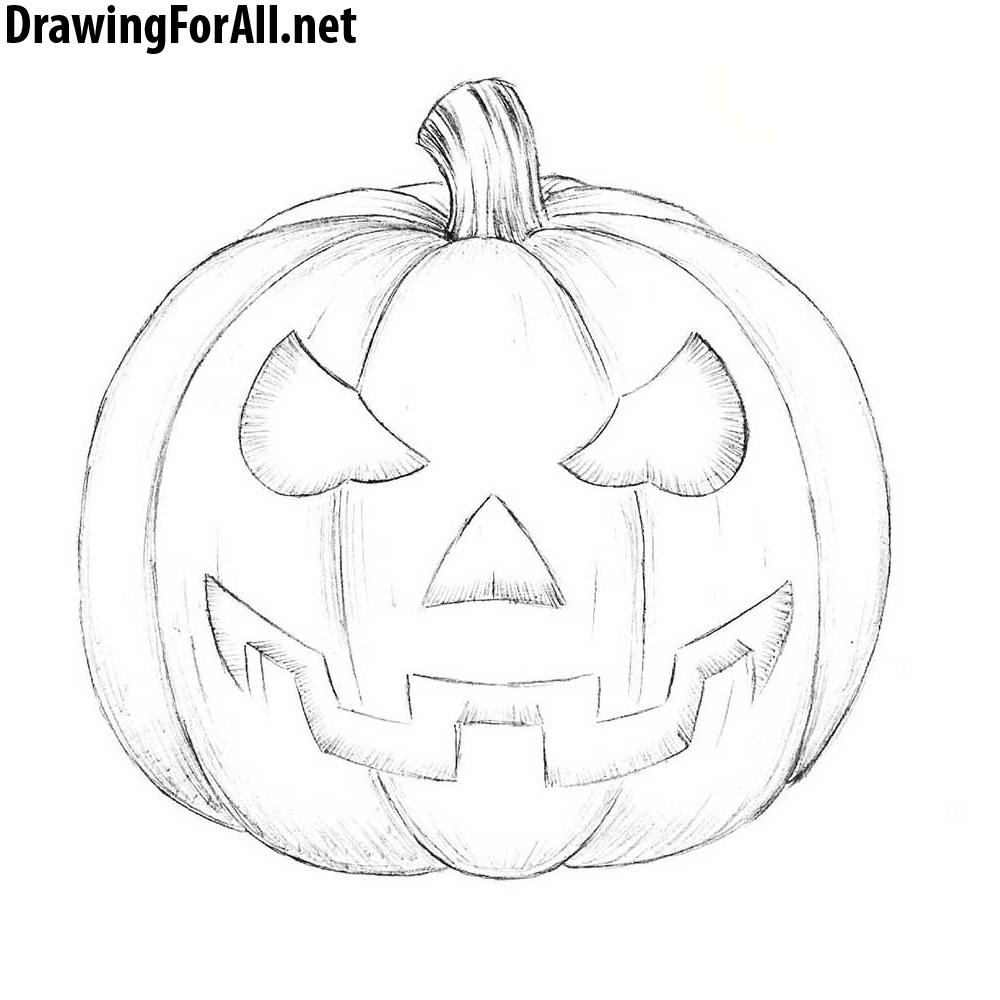 How to Draw a Halloween Pumpkin