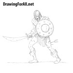 How to Draw a Zombie Warrior