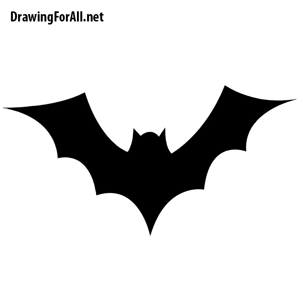 How To Draw A Bat For Halloween Drawingforall Net