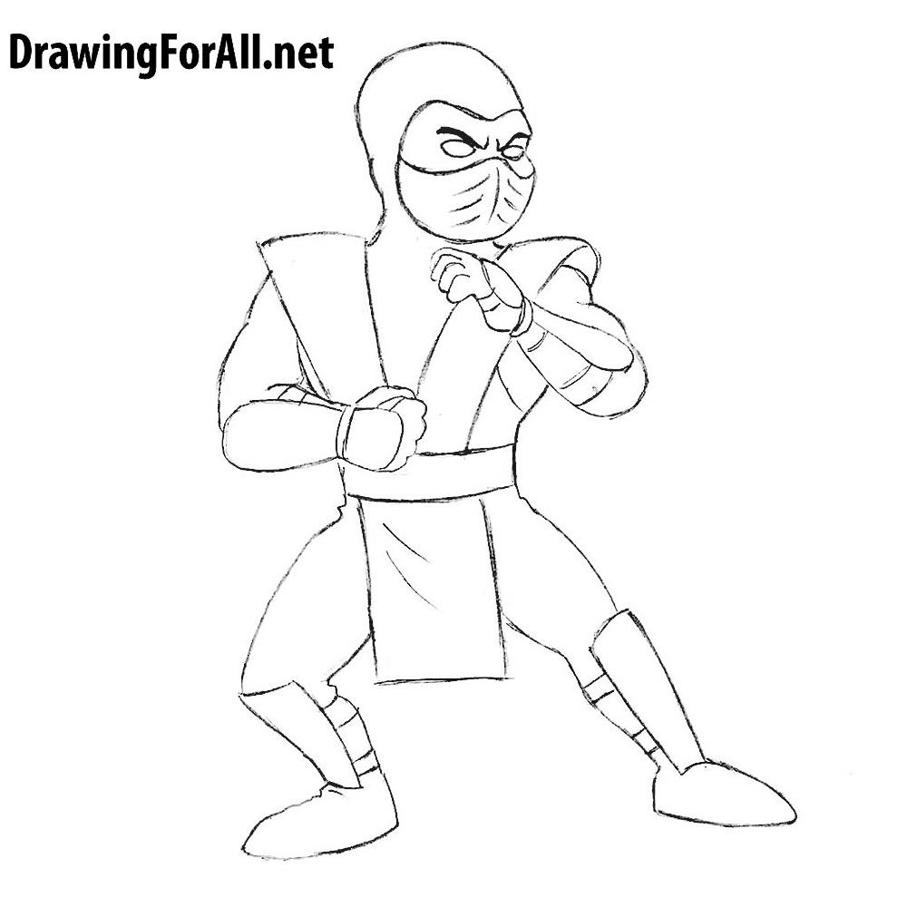 How to Draw Cartoon Sub-Zero