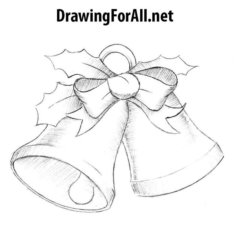 Christmas Drawing.How To Draw Christmas Bells Drawingforall Net