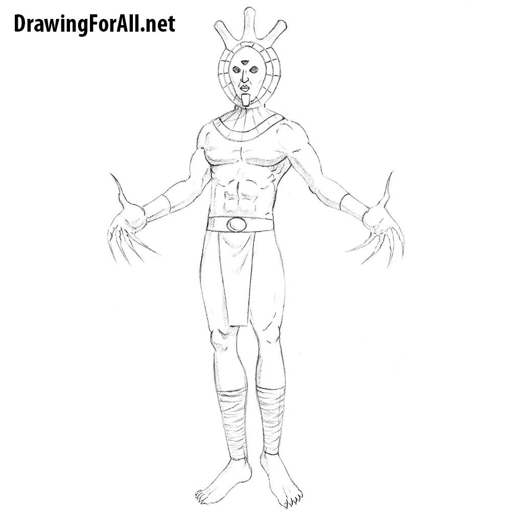 How to Draw Dagoth Ur