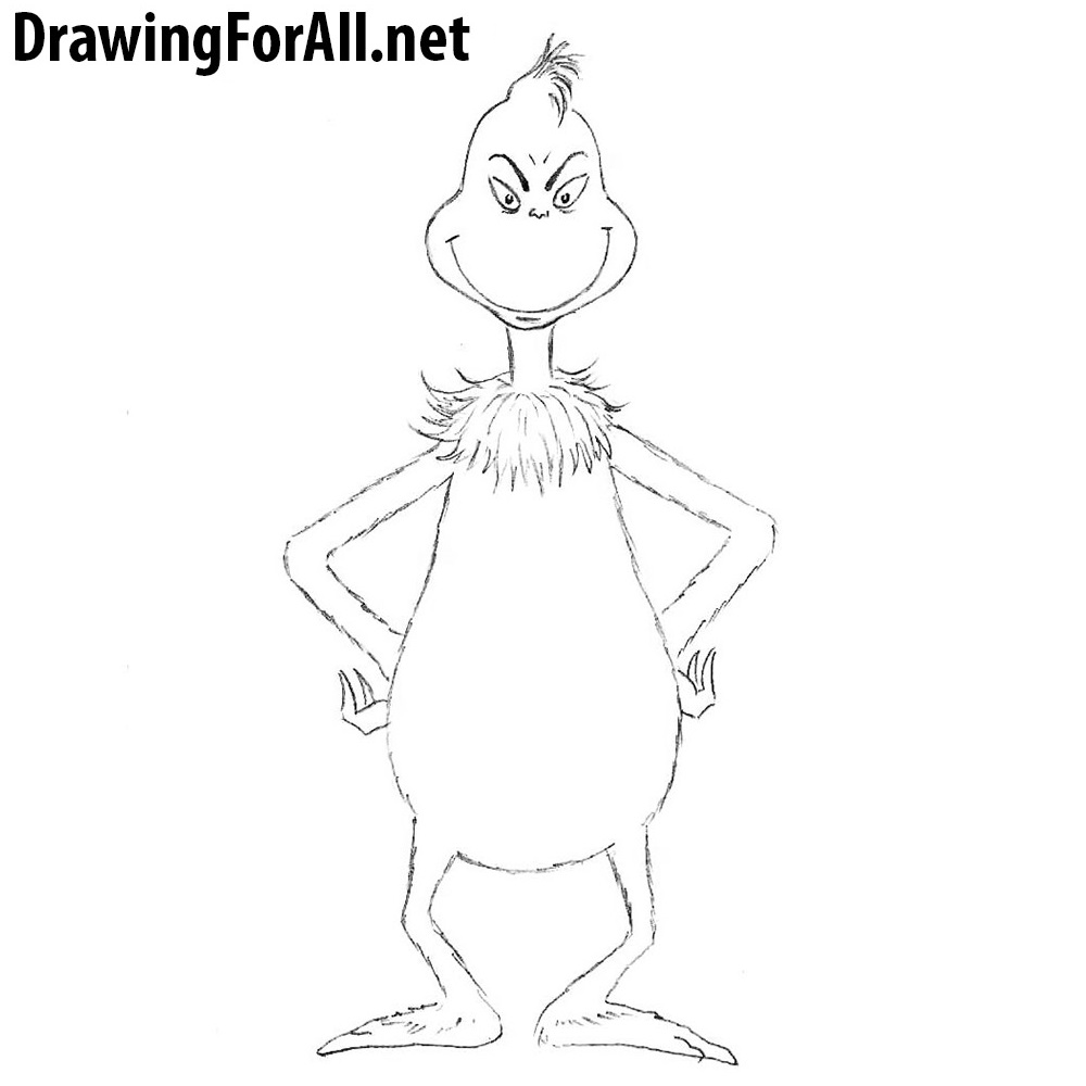 how to draw grinch