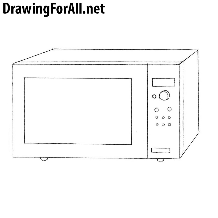 How To Draw A Microwave Drawingforall Net