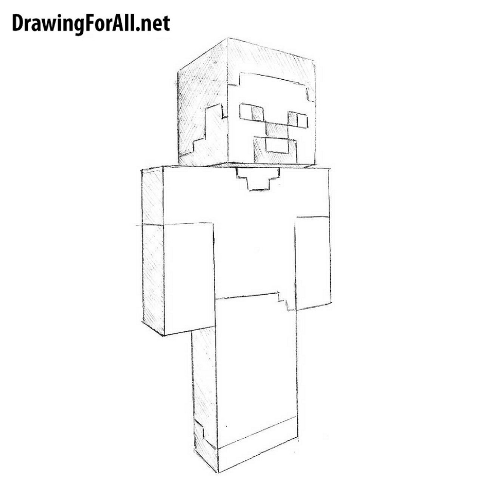 How To Draw Steve From Minecraft Drawingforall Net