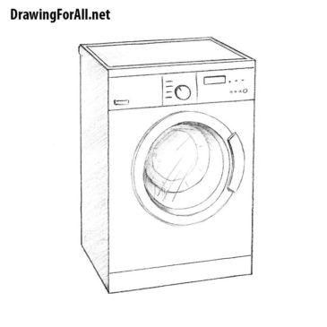 How to Draw a Washing Machine