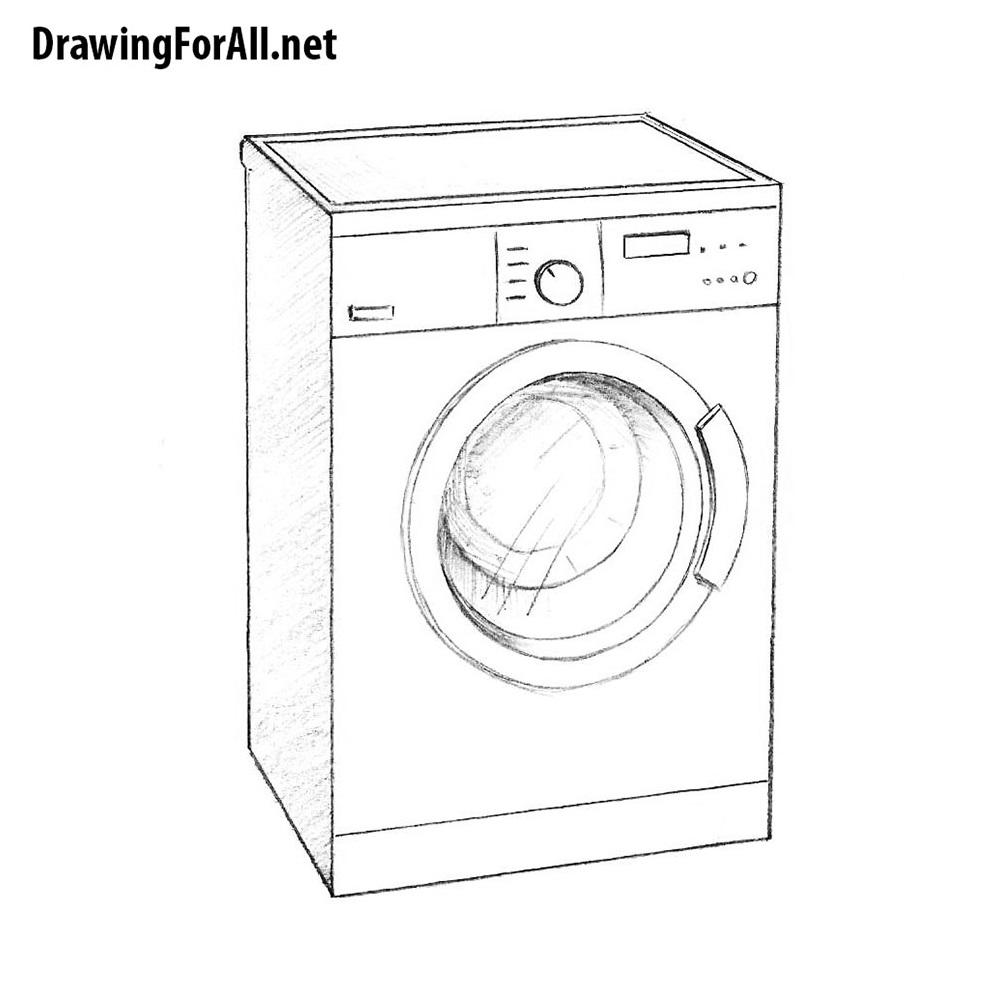 How To Draw A Washing Machine Drawingforall Net