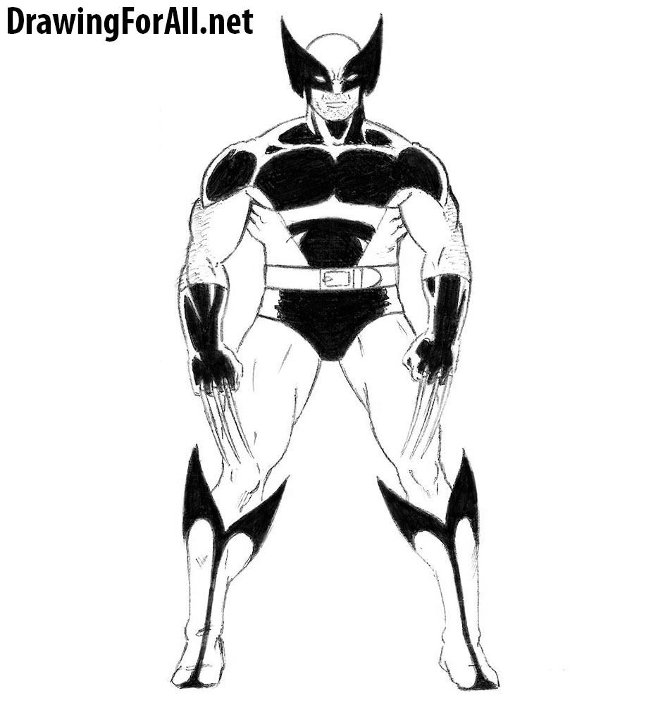 How To Draw Wolverine From X Men Best of wolverine x men drawing easy