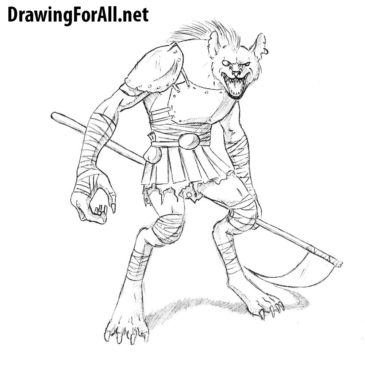 How to Draw a Gnoll