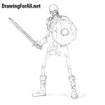How to Draw a Skeleton Warrior