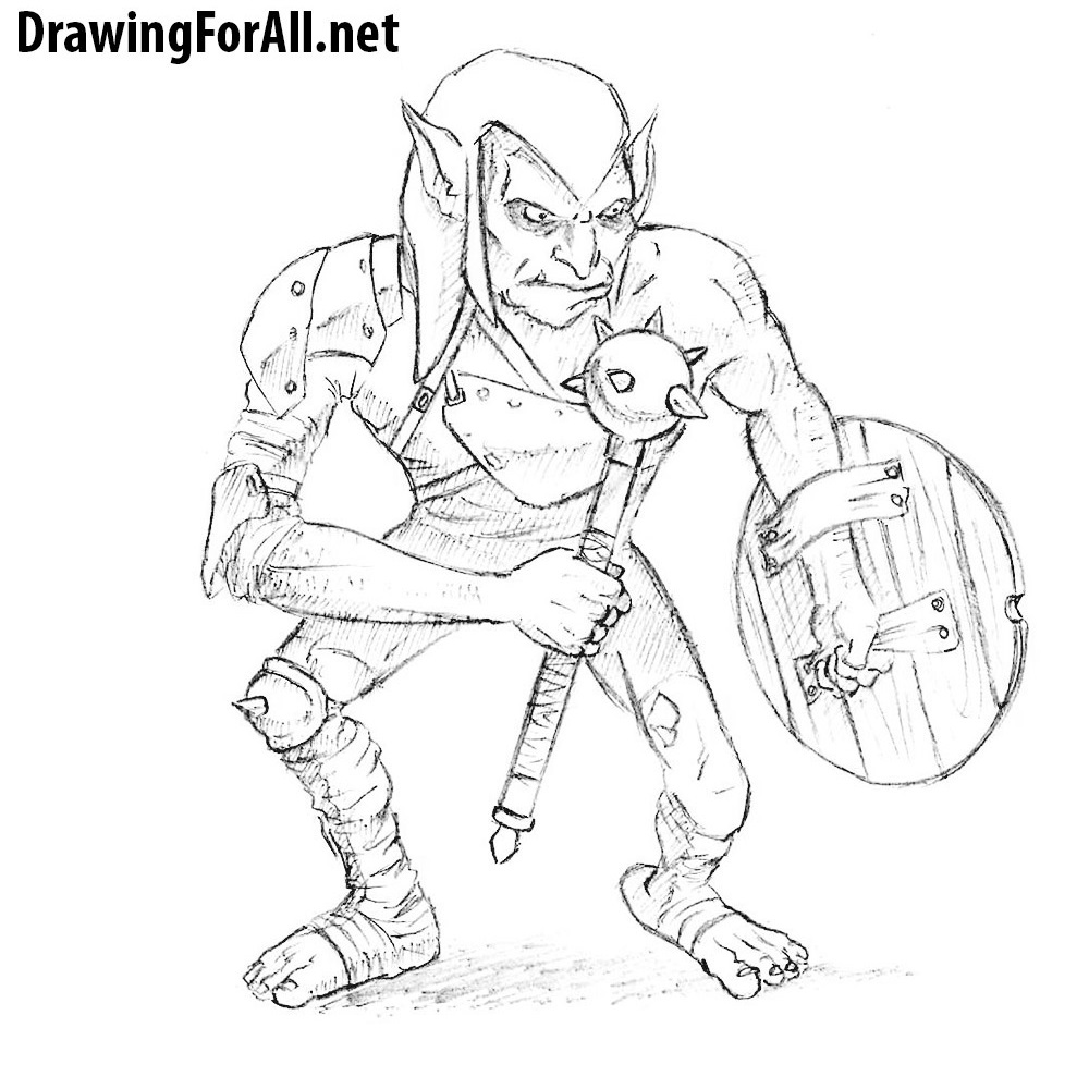 How to Draw a Goblin from D&D