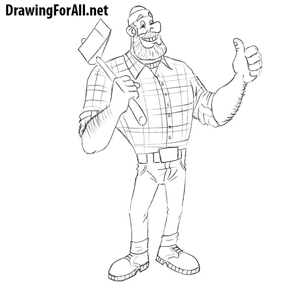 How to Draw Paul Bunyan