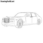 How to Draw a Rolls Royce Phantom