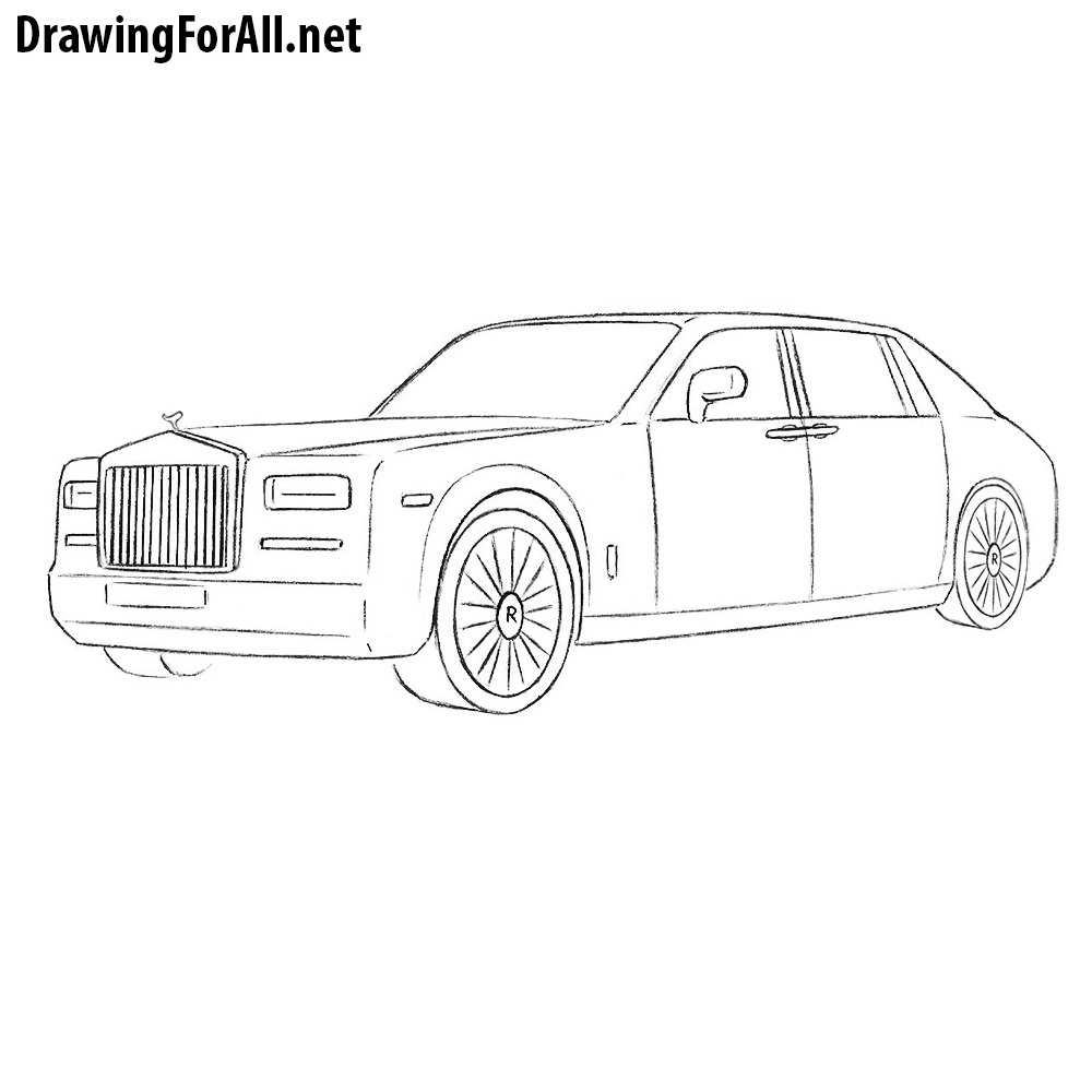 How To Draw A Rolls Royce Phantom Drawingforall Net