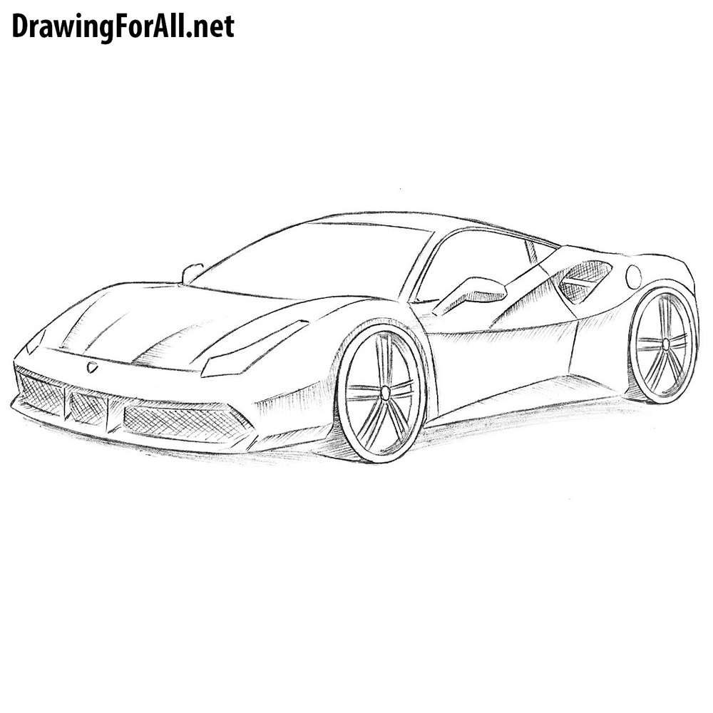 How To Draw A Ferrari Drawingforall Net
