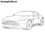 How to Draw an Aston Martin