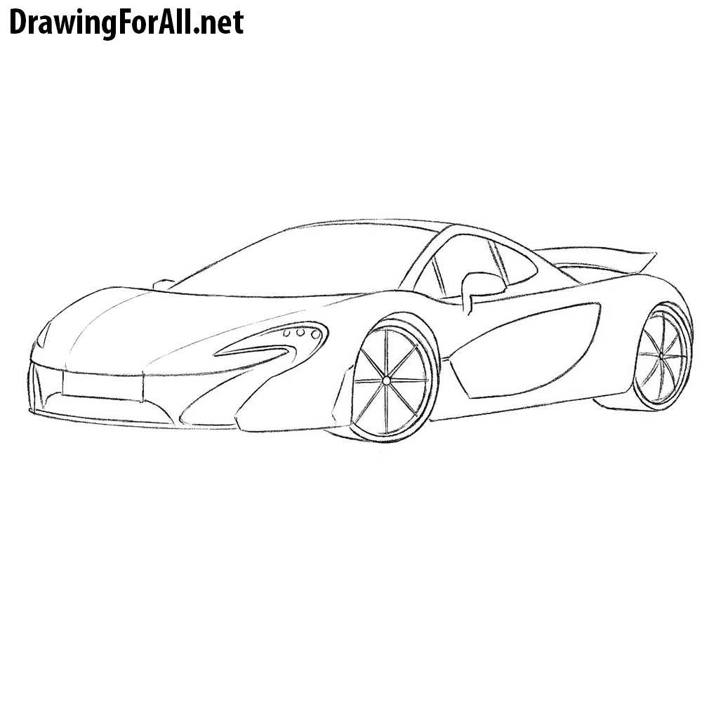 How To Draw A Mclaren P1 Drawingforall Net