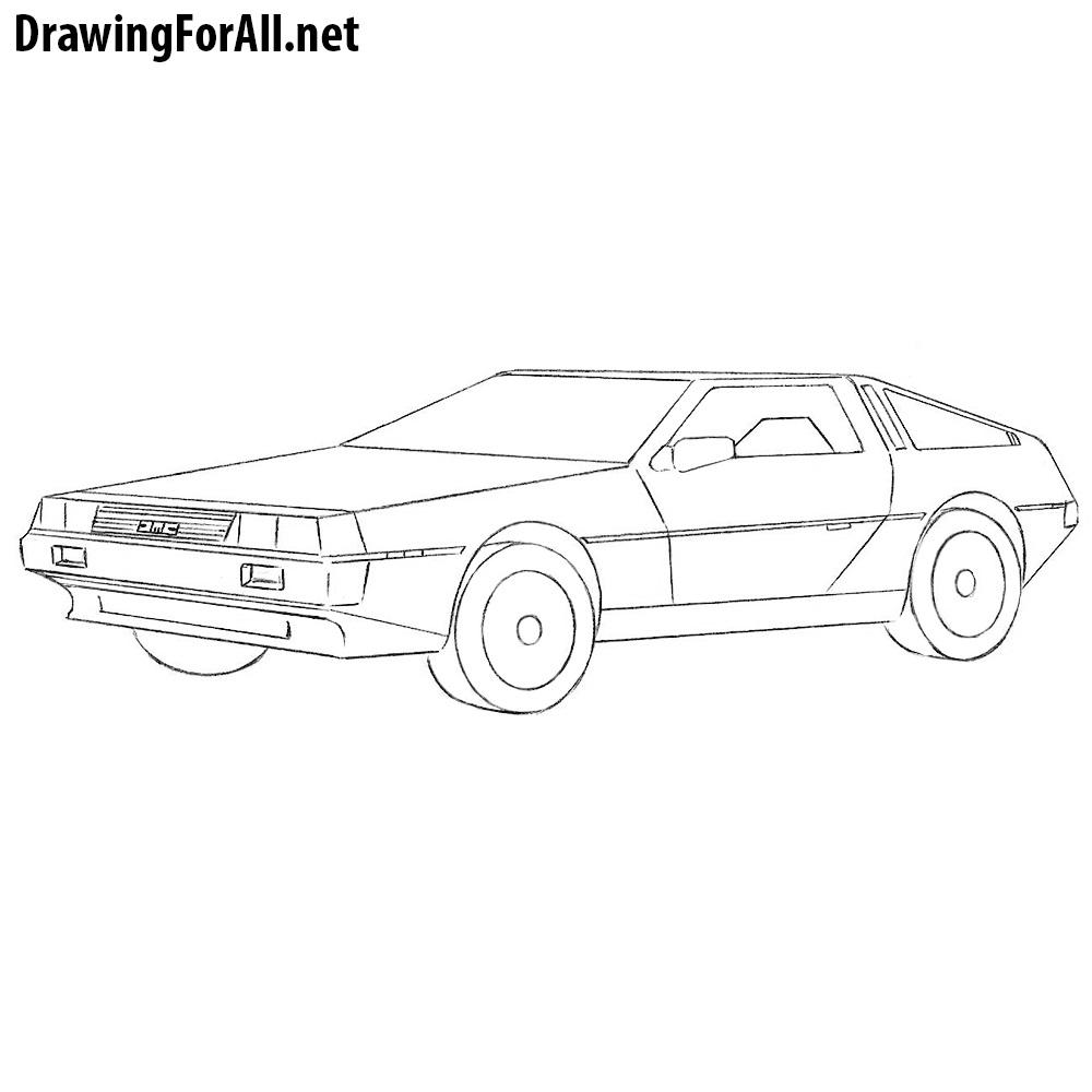 New Dodge Car: How To Draw A DeLorean DMC
