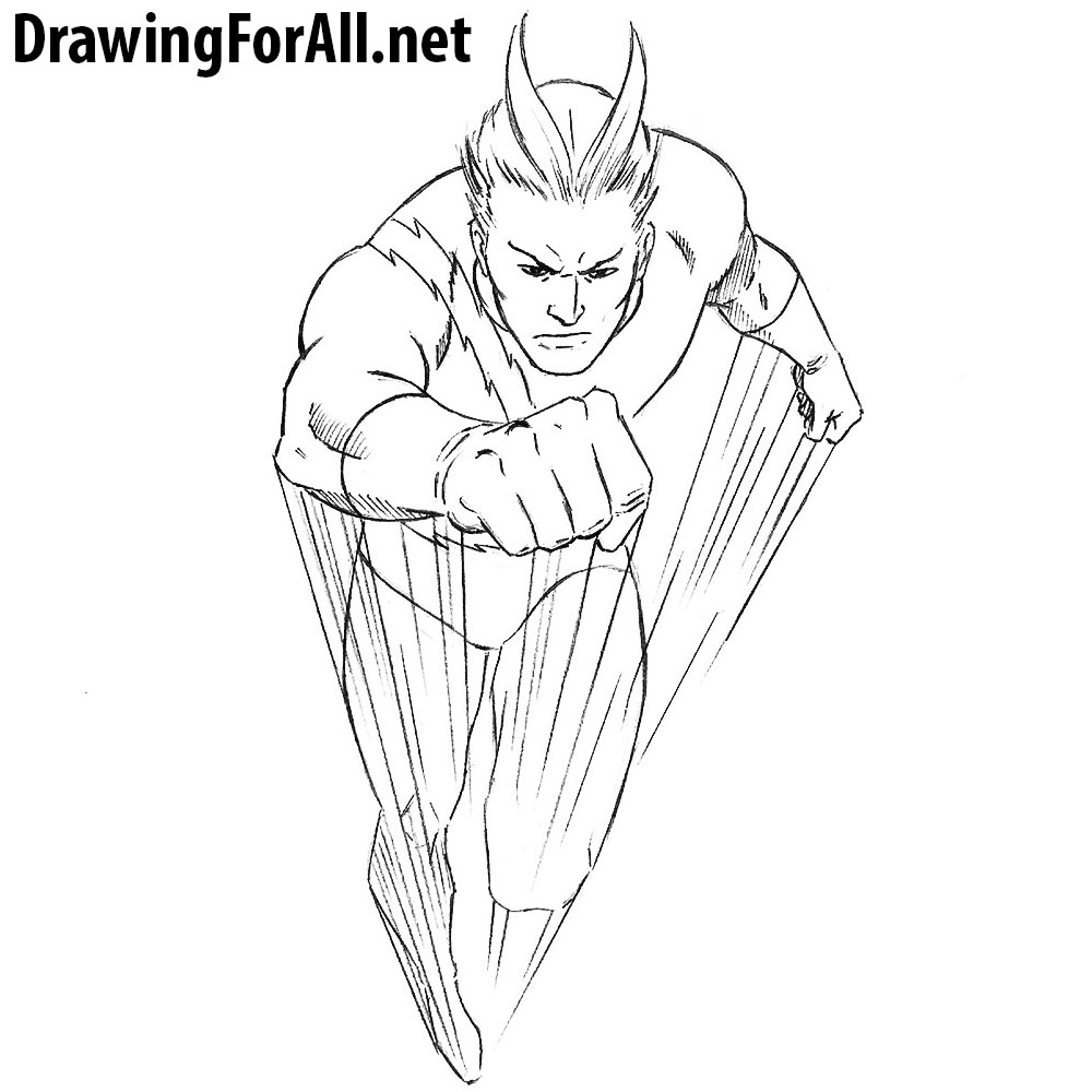 How To Draw Quicksilver Drawingforall Net