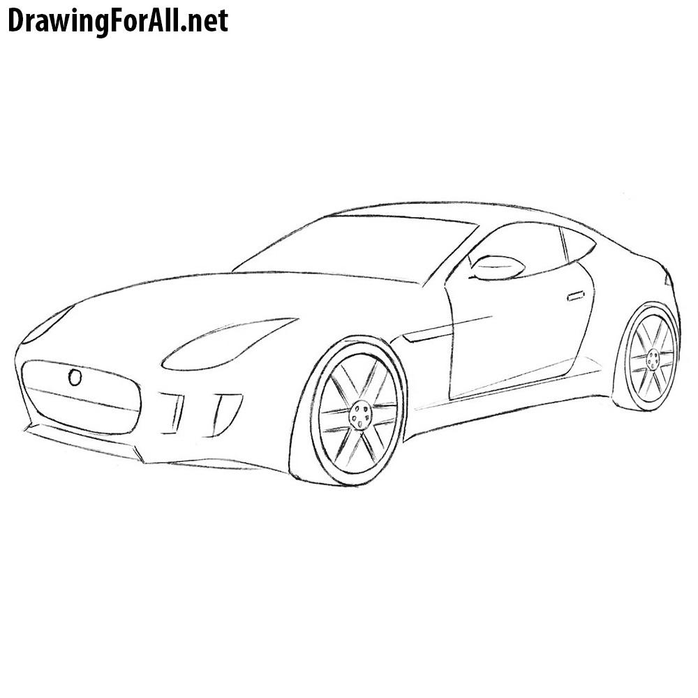 How To Draw A Jaguar Car Drawingforall Net