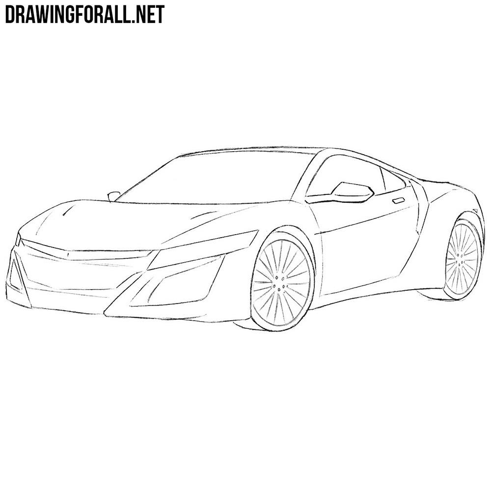 How to Draw a Honda NSX