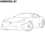 How to Draw a Lexus LFA