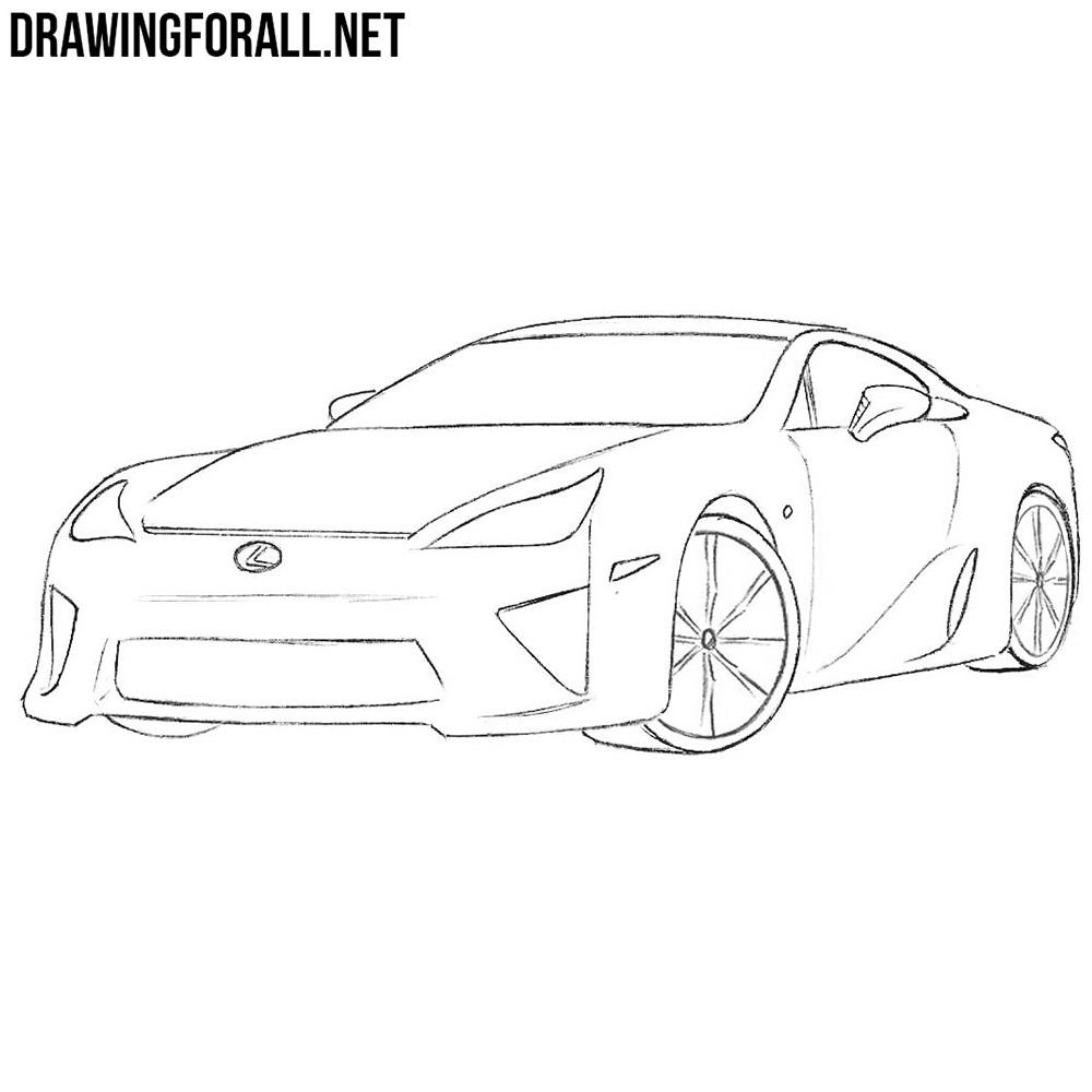 How to Draw a Lexus LFA