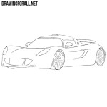 How to Draw a Hennessey Venom GT