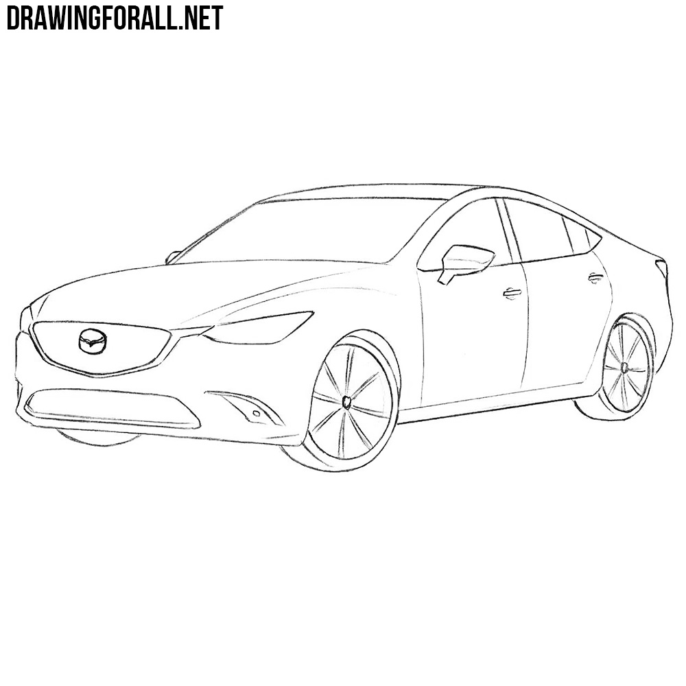 How to Draw a Mazda 6