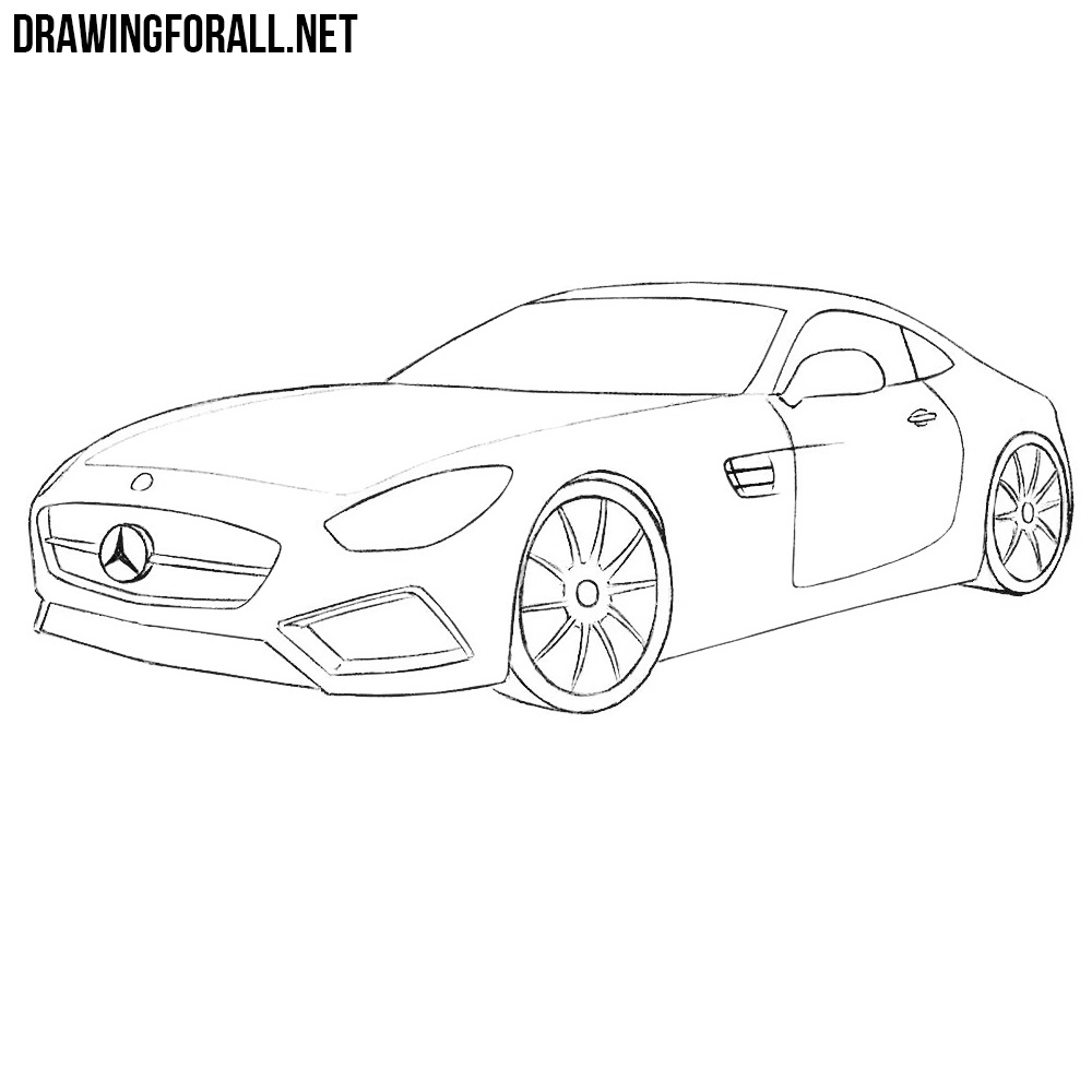 How to Draw a Mercedes-AMG GT