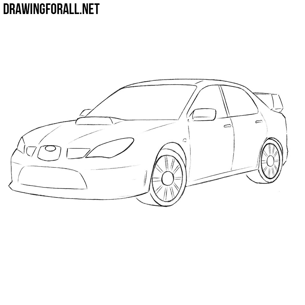 How To Draw A Subaru Impreza Wrx Sti Drawingforall Net